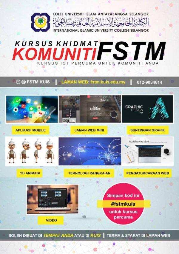 Kursus ICT percuma Khidmat Komuniti FSTM KUIS