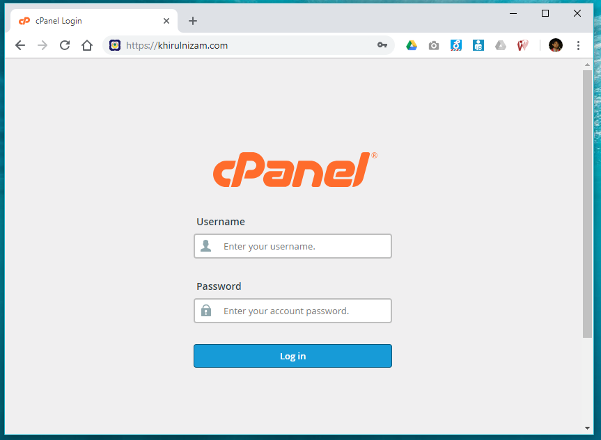 Installing WordPress thru CPanel