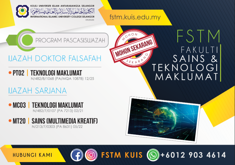 FSTM Kolej IT terbaik - program master / sarjana dan PHD IT