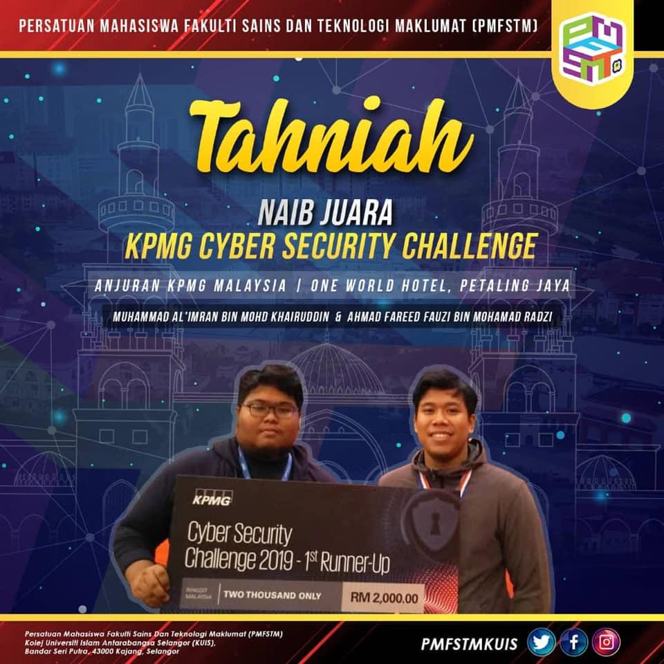 KPMG2019 - Tahniah Fareed Fauzi dan Mohamad al Imran pemenang tempat kedua