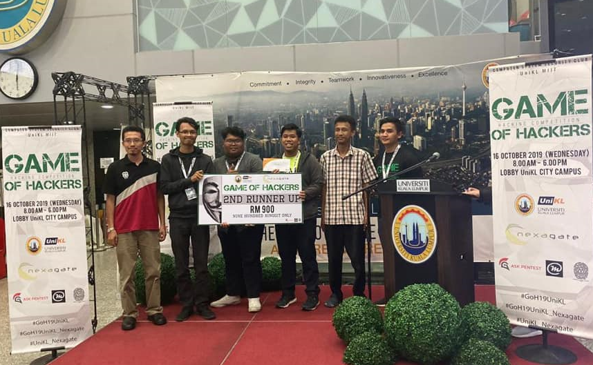Cloud9 of FSTM: 2nd Runner up Game of Hackers UNIKL 2019