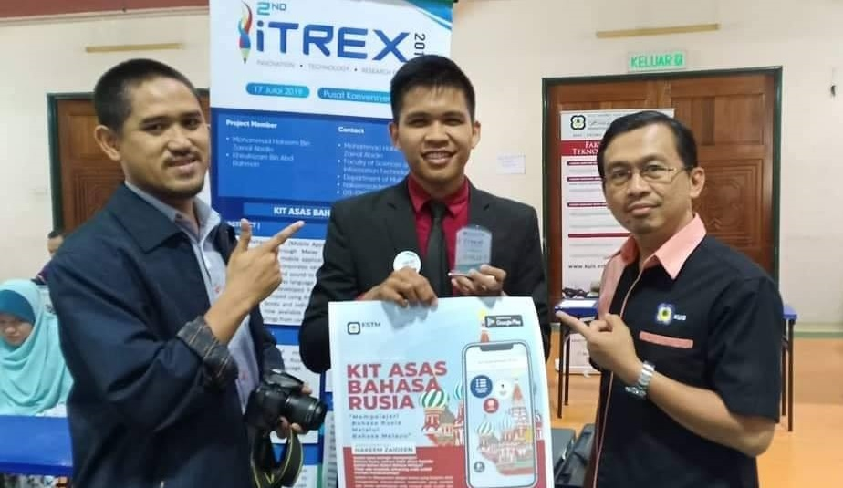 itrex2019 Gold Award Learn Basic Russian app for malay - winner with KUIS TRA Dr Mokmin Basri