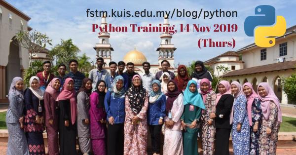 Python Training FSTM KUIS