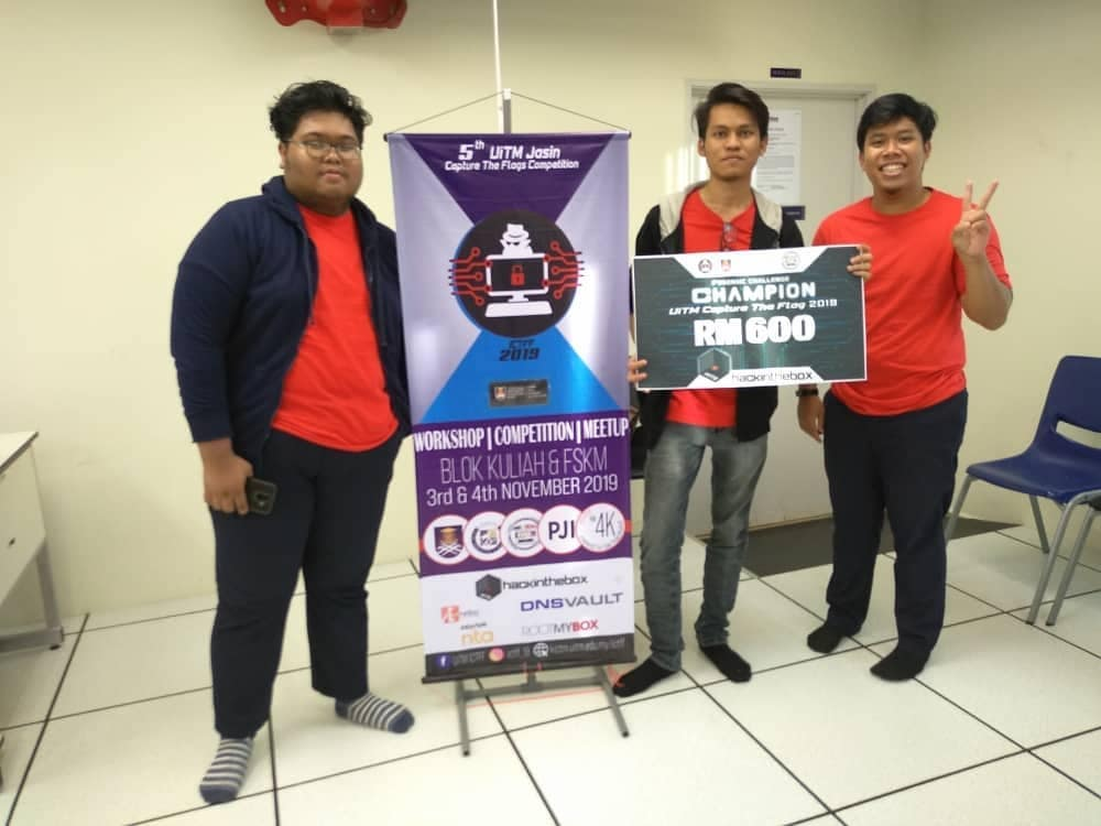UITM CTF & Forensic Challenge 2019 Champion Cloud9 champs