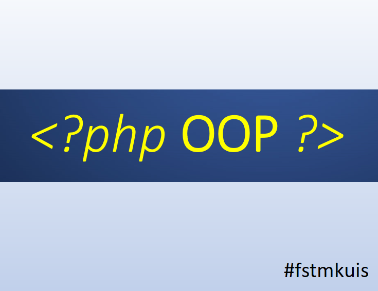 PHP OOP pengaturcaraan berasaskan objek